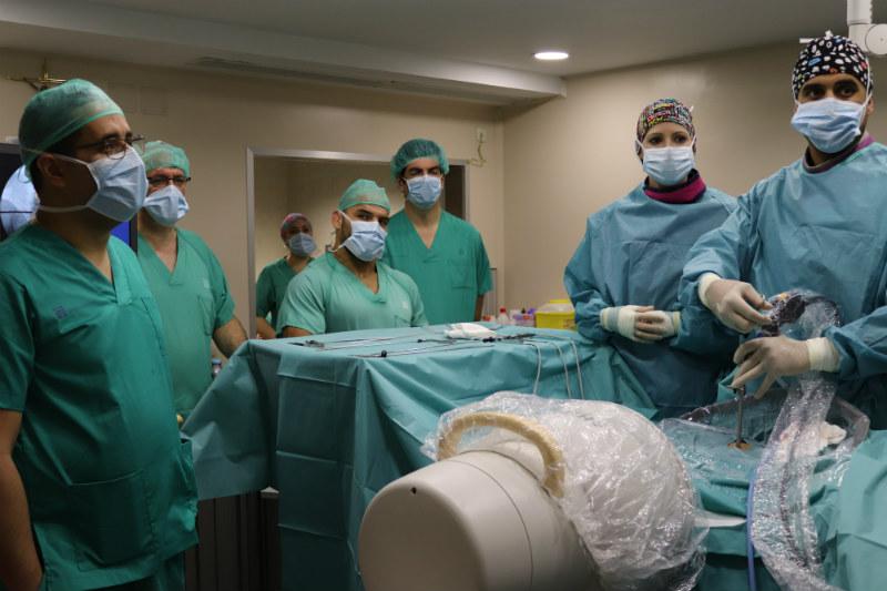 Momento durante la operacion